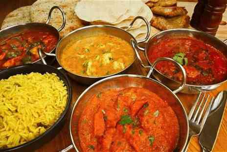 The Viceroy - Indian meal for Four  with papadums, pickles, starters, main courses & pilau rice - Save 55%