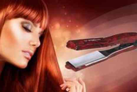 Blush Look - TS2 Big Mini Red Rose Ceramic Hair Straighteners, worth £53.50 - Save 64%