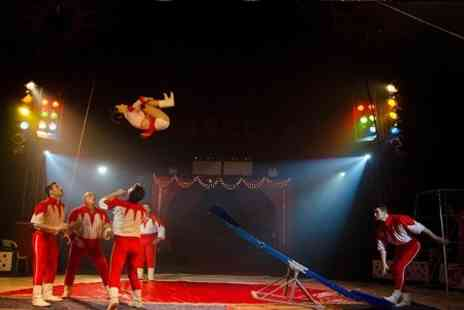 Russells International Circus - Two or Five Front Circle Tickets to Russells International Circus - Save 66%