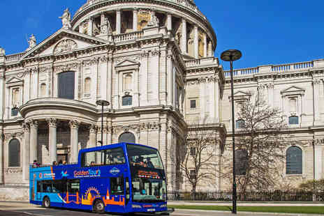 Golden Tours -  London Panorama 3 hour open top bus tour  - Save 50%