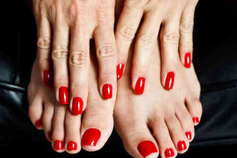 Indulge Tanning & Beauty - Shellac Manicure and Pedicure - Save 50%
