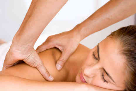 Sarah Davies Therapies - 30 Minute Swedish Back, Neck, and Shoulder or Hour Long Hot Stone Massage - Save 52%
