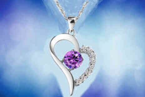 Gevani - Austria silver plated crystal heart necklace - Save 0%