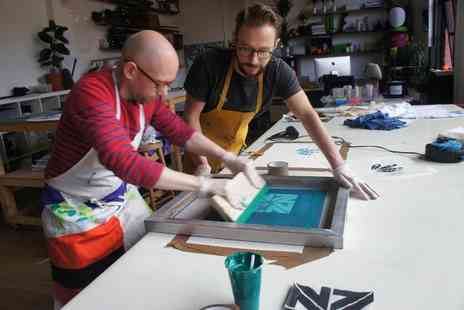 Shapes of Things - Three hour screen printing workshop  - Save 59%
