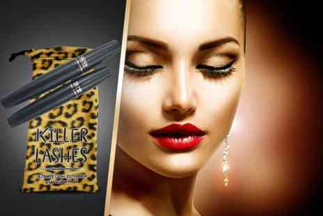 Look Good Feel Fabulous -  Killer Lashes  mascara and brush on fibre lash extender set plus DELIVERY INCLUDED  - Save 73%