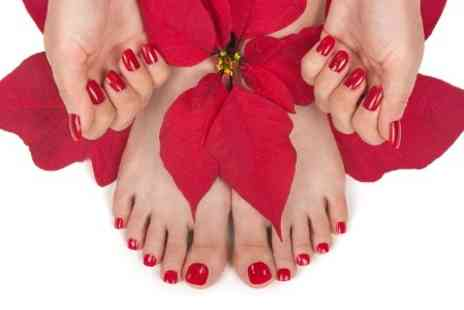 Glowing Salon - Shellac Manicure, Pedicure or Both  - Save 47%