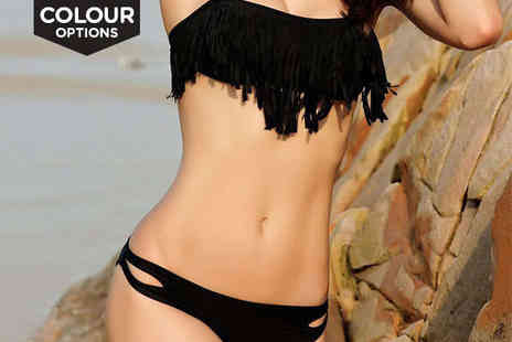Beaches crazy - Fringe Bikini in a Choice of Colour - Save 65%