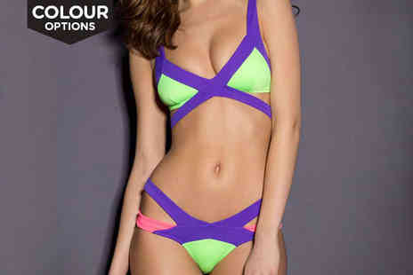 Beaches crazy - Bandage Bikini Set in a Choice of Colour - Save 78%