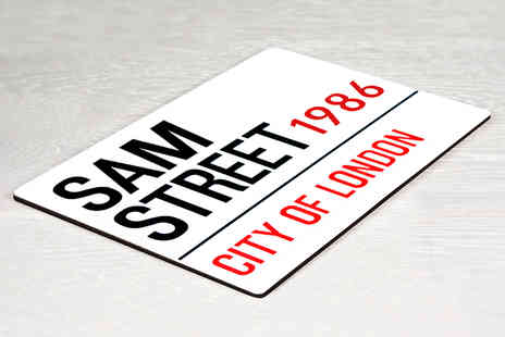 Treat Republic - A Personalised Street Sign for Your Home - Save 57%