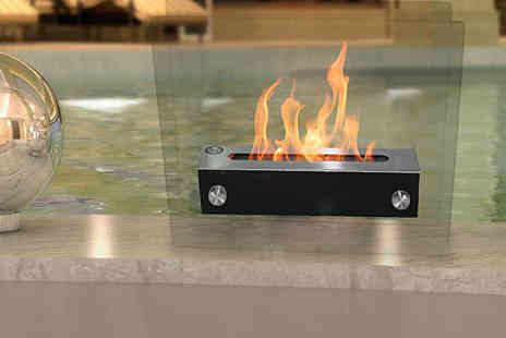 ohmy deal - Bioethanol Fireplace in Black, Red, Brushed Stainless Steel, or White, Delivery Included - Save 84%
