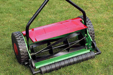 Push-Along Lawnmower - Eckman Push Cylinder Lawnmower - Save 65%