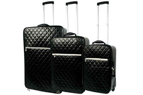 All Boxed Up - 3pc Quilted Luggage Set - Save 67%