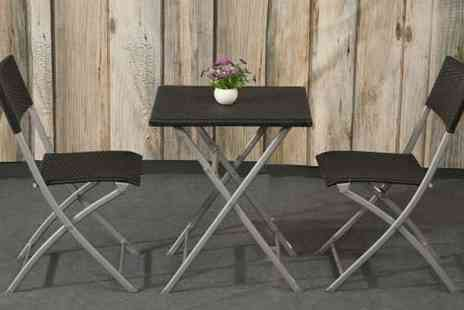 Muubaa - Appleby Rattan Folding Bistro Set - Save 69%