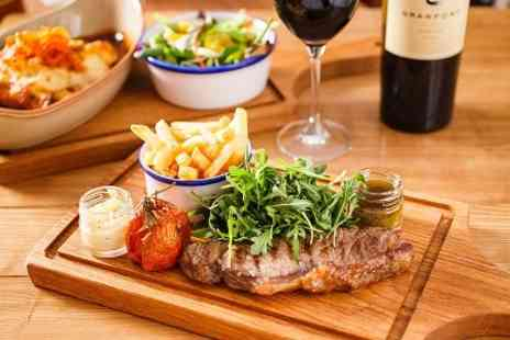 The Victory - Two Course Steak Meal With Wine - Save 53%