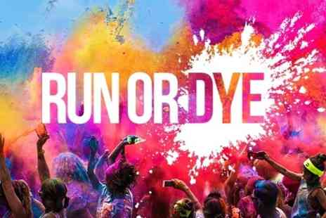 Human Race -  Entry to Run or Dye 5k Coulour Run With Goody Bag  - Save 0%
