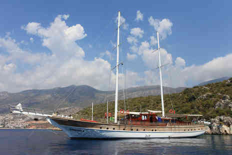 Anatolian Sky Holidays - Full board Turkish deluxe gulet cruise on the Cankaya II including flights, luggage and transfers - Save 41%
