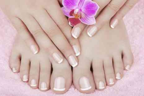 Beauty Secrets  - Gel Manicure or Pedicure or Both With Waxing - Save 60%