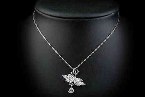 Specifically 4 U - Swiss Swan Cubic Zirconia Necklace - Save 75%