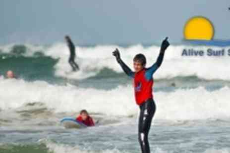 Alive Surf School - Two Hour Surfing Lesson For Four - Save 60%