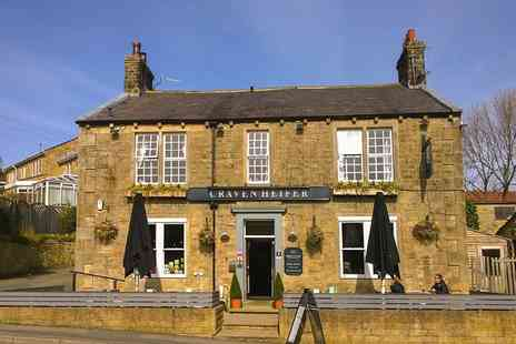 The Craven Heifer Addingham - One or Two Nights stay For 2 With Breakfast and Dinner - Save 30%