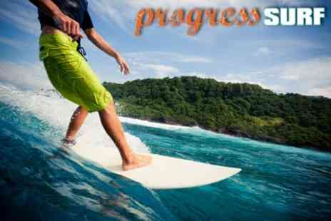 Progress Surf - Half Day Introductory Surf Lesson for £12  - Save 60%
