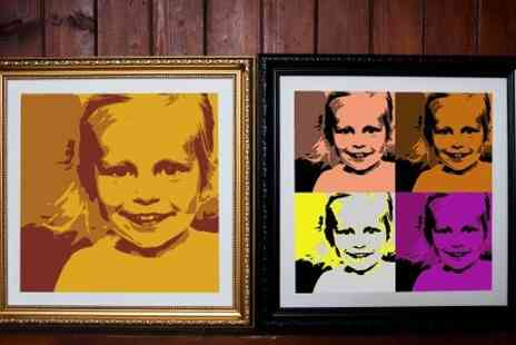 Mezoo UK - Personalised Pop Art Canvas Print in Choice of Styles  - Save 91%