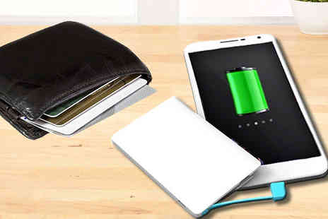 Click Wrap - Credit Card Powerbank - Save 68%