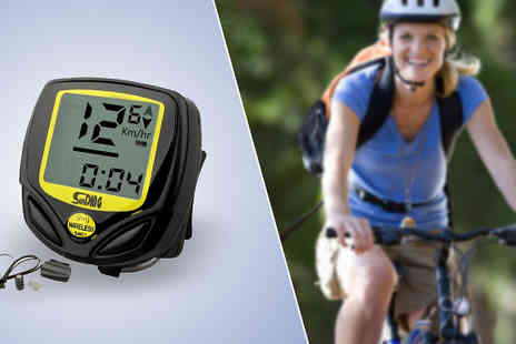 Zip Gadgets - Wireless Waterproof Bike Speedometer - Save 80%