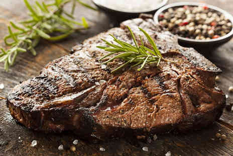 La Nonna - Sirloin steak dinner with sides and a bottle of wine for 2 - Save 52%