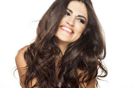 Beauty and Melody - Haircut, Blow Dry, and Treatment with Half-Head Highlights or Full-Head Tint  - Save 66%