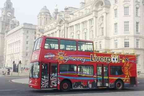 City Sightseeing Liverpool  - Liverpool Sightseeing For Two  - Save 55%