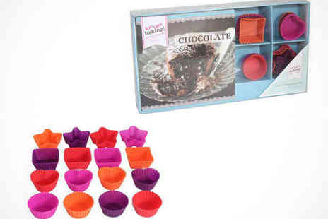 Chocolate 7 - Chocolate Recipe Book and Silicone Moulds Gift Set - Save 75%