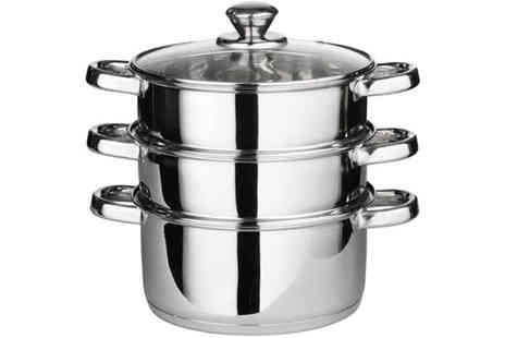 ToolCollection - Three Piece Stainless Steel Tiered Pan Set - Save 0%