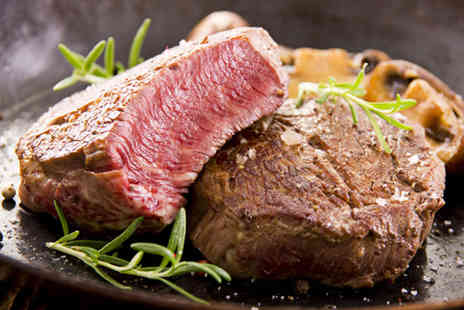 The Hilton Hotel - Fillet steak dinner for 2 including a glass of Champagne each  - Save 62%
