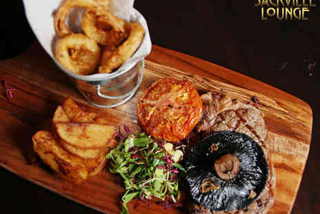 Sackville Lounge - Steak Meal with Prosecco Cocktail Each for Two - Save 49%