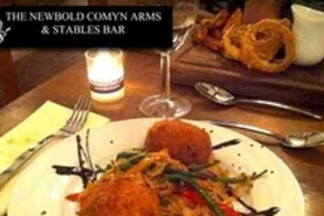 The Newbold Comyn Arms - Two Courses of Modern British Cuisine For Two With Side Dish Each  - Save 60%