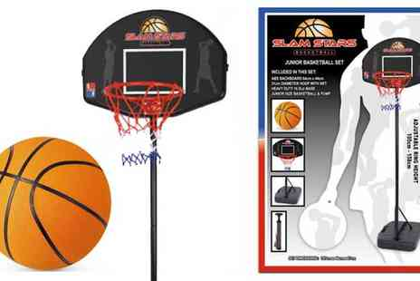 Qfonic Technology Distribution Network  - Junior Standing Basketball Hoop and Backboard Set - Save 32%