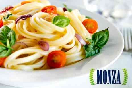 Monza Restaurant - Two Course Italian Meal For Two With Glass of Champagne Each for £29 - Save 63%