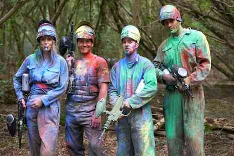 Skirmish Paintball - Paintballing For Up to 10 or 20 With Lunch and 100 Rounds Each  - Save 90%