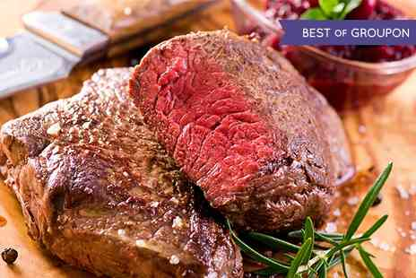 Elysium - Two Course Steak Meal With Wine and Sides For Two - Save 54%