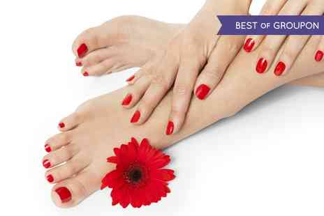 Hands Tanned - Shellac Manicure or Pedicure - Save 62%