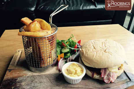 The Moorings - Burger and Side Dish Each for Two  - Save 51%