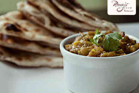 Romys Kitchen  - Indian Lunch with Tea for Two  - Save 50%