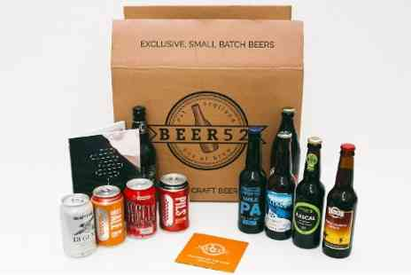 Beer52 - Case of 10 Craft Beers with Book and Flexible Beer52 Club Subscription - Save 75%