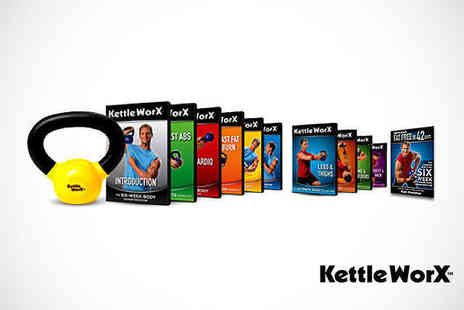 HSM - Kettlebell Home Fitness Pack for 10 Workout DVDs, 5lbs Kettlebell, and Diet Plan - Save 44%