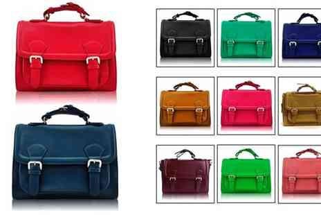Pahal Trend - Classic Buckle Fashion Satchel Available in Various Colours - Save 54%