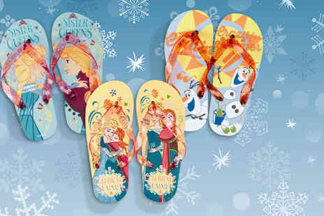 All Boxed Up - Pair of kids Disney Frozen flip flops  - Save 67%