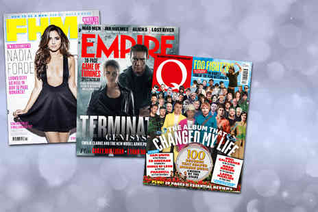 Bauer Consumer Media - 12 month subscription to FHM, Q or Empire Magazine  - Save 0%