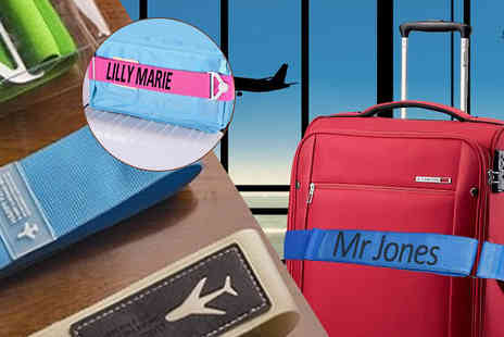 Tailor made gifts - Personalised Luggage Strap - Save 64%