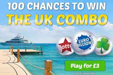 Win more lotto - 100 Chances Lottery Syndicate - Save 50%